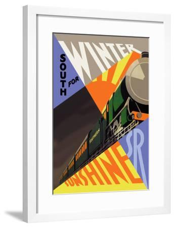 South for Winter Sunshine, Southern Railroad--Framed Art Print