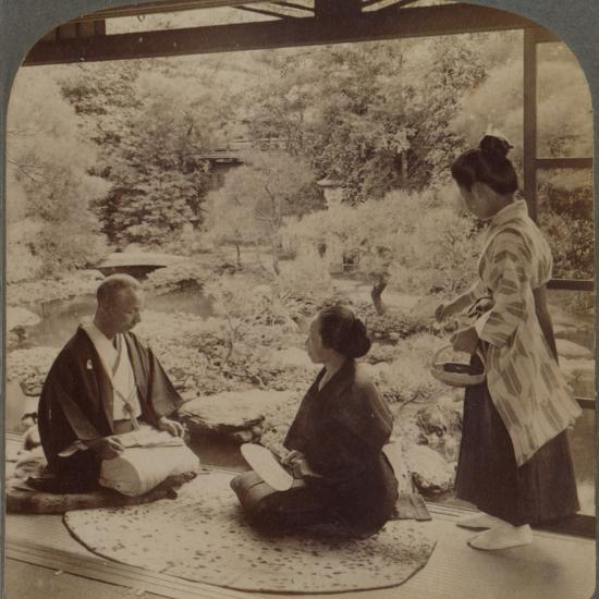 'South gardens from home of Mr Y Namikawa, the famous leader in art industries, Kyoto, Japan', 1904-Unknown-Photographic Print