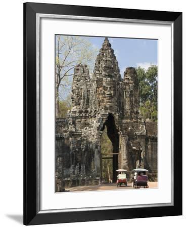 South Gate, Angkor Thom, Angkor Archaeological Park, UNESCO World Heritage Site, Cambodia-Richard Maschmeyer-Framed Photographic Print
