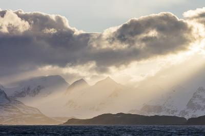 South Georgia Island, Bay of Isles. Storm Clouds over Mountains at Sunset-Jaynes Gallery-Photographic Print