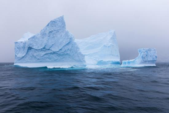 South Georgia Island. Large Iceberg on Cloudy Day-Jaynes Gallery-Photographic Print