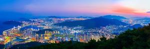 South Korea Landscapes. at Busan City and Downtown Skyline in Busan, South Korea.South Korea Citysc