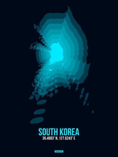 South Korea Radiant Map 2-NaxArt-Art Print