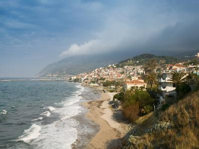 South Lesvos Resort Town, Plomari, Lesvos, Mithymna, Aegean Islands, Greece-Walter Bibikow-Photographic Print