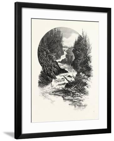 South Muskoka Falls, Canada, Nineteenth Century--Framed Giclee Print
