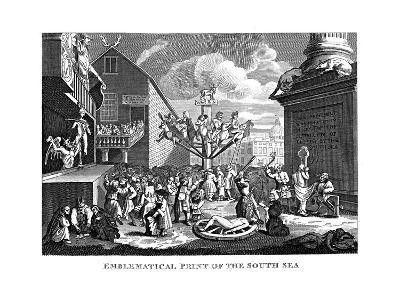 South Sea Bubble, 1721-William Hogarth-Giclee Print