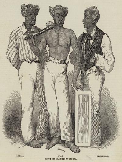 South Sea Islanders at Sydney--Giclee Print