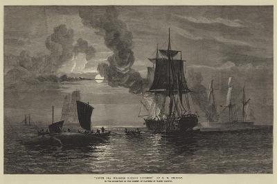 South Sea Whalers Boiling Blubber-Oswald Walters Brierly-Giclee Print