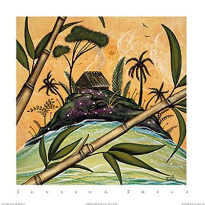 South Seas Hut I-Jessica Fries-Art Print