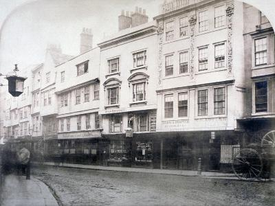 South Side of Aldgate (Stree), Showing Nos 6-9, City of London, 1872--Giclee Print