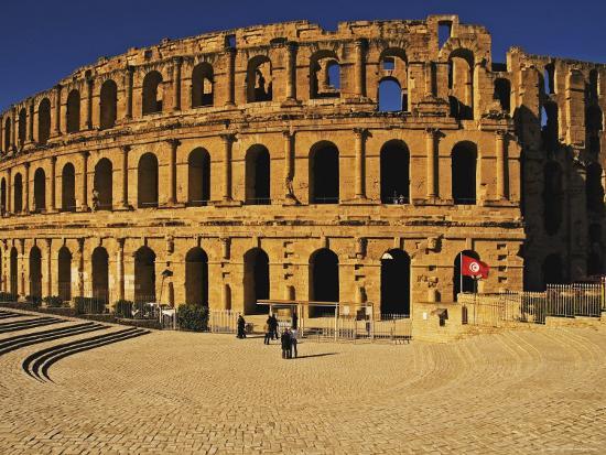 South Side of Roman Colosseum, El-Jem, Mahdia, Tunisia-Bethune Carmichael-Photographic Print