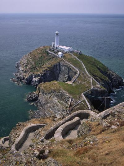 South Stack Lighthouse on the Western Tip of Holy Island, Anglesey-Nigel Blythe-Photographic Print
