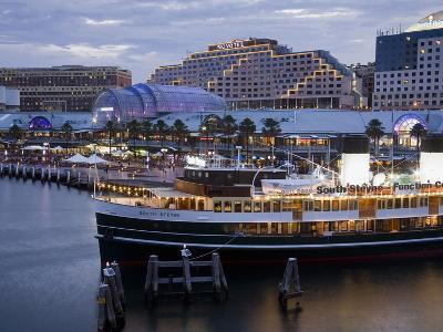 South Steyne Ferry and Harbourside in Darling Harbour, Central Business District, Sydney, New South-Richard Cummins-Photographic Print