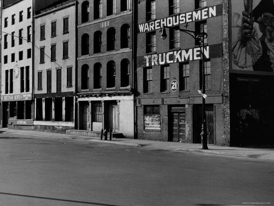 South Street, Just Below Coentus Slip-Walker Evans-Photographic Print