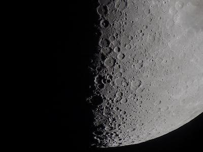 South Terminator of 7 Day Moon--Photographic Print