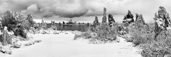 South Tufa Area, Panoramic View of Tufa Formations at Dawn after a Fresh Snowfal-Ann Collins-Photographic Print