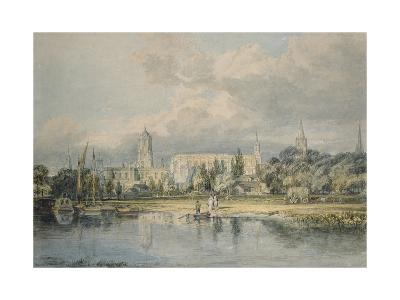 South View of Christ Church from the Meadows, 19th Century-J^ M^ W^ Turner-Giclee Print