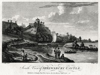 South View of Shrewsbury Castle, Shropshire, 1777-William Watts-Giclee Print