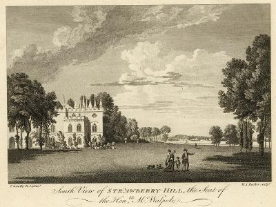South View of Strawberry Hill, Twickenham, London, the Seat of the Honourable Horace Walpole-Paul Sandby-Giclee Print