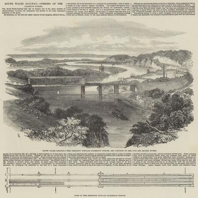 South Wales Railway, Opening of the Chepstow Bridge-Samuel Read-Giclee Print