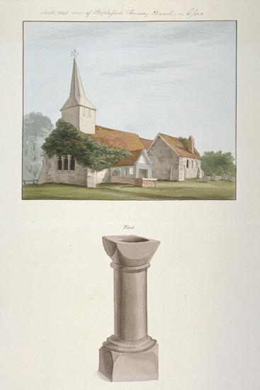 South-West View of St Mary's Church, Stapleford Tawney, Essex, C1800--Giclee Print