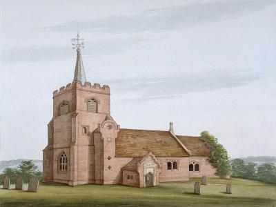South-West View of the Church of St Michael, Theydon Mount, Essex, C1800--Giclee Print