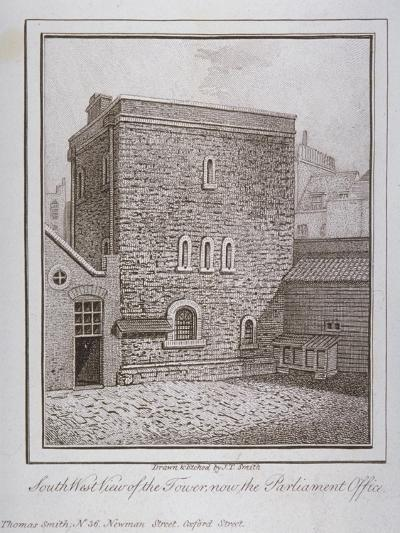 South-West View of the Jewel Tower, Old Palace Yard, Westminster, London, C1805-John Thomas Smith-Giclee Print