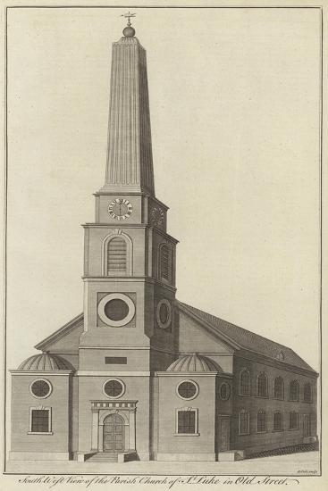 South West View of the Parish Church of St Luke in Old Street, London--Giclee Print