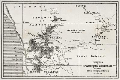 South Western Africa Old Map-marzolino-Art Print