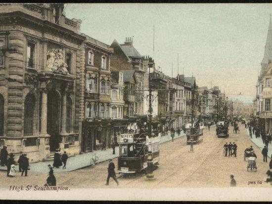 Southampton, Hampshire: the High Street--Photographic Print