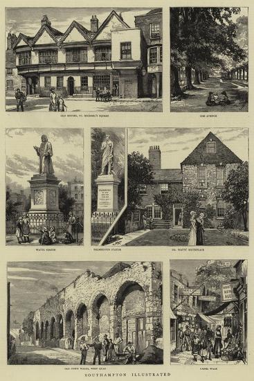 Southampton Illustrated--Giclee Print