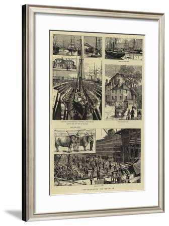 Southampton Illustrated--Framed Giclee Print