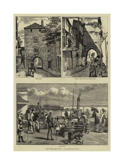 Southampton Illustrated--Giclee Print