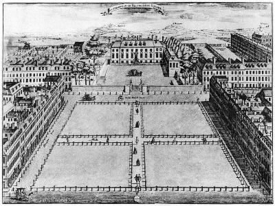 Southampton or Bloomsbury Square, London, 18th Century--Giclee Print