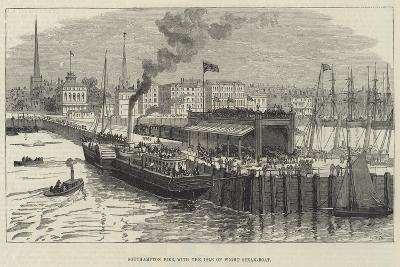 Southampton Pier, with the Isle of Wight Steam-Boat--Giclee Print