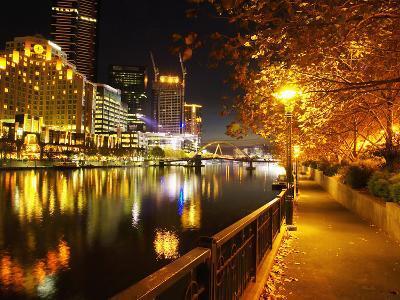 Southbank, Yarra River, and Flinders Walk, Melbourne, Victoria, Australia-David Wall-Photographic Print
