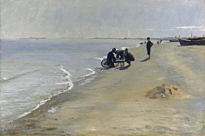 Southern Beach at Skagen, 1884-Peter Severin Kroyer-Giclee Print