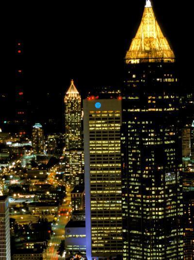 Southern Bell Building at Night, Atlanta, Georgia, USA-Marilyn Parver-Photographic Print