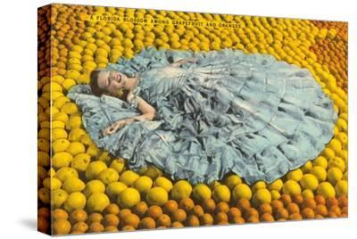 Southern Belle Lying on Oranges, Florida
