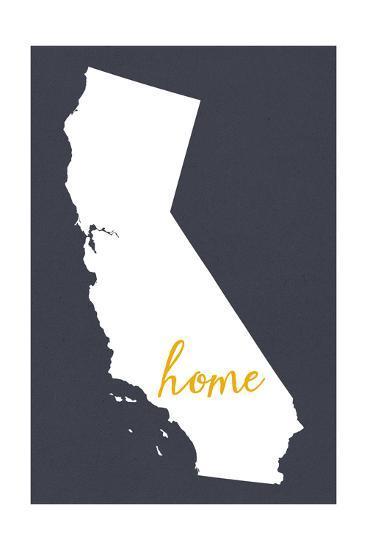 Southern California - Home State - Outline-Lantern Press-Art Print