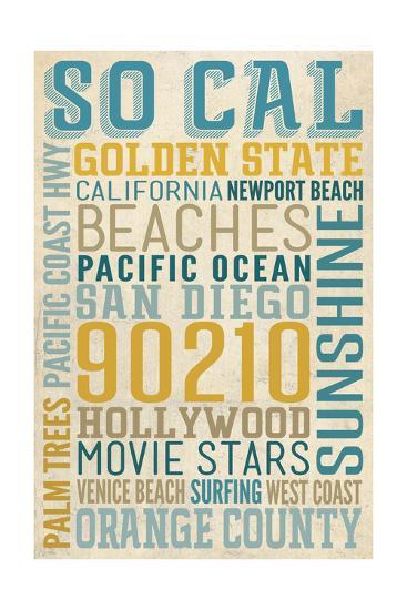Southern California-Lantern Press-Art Print