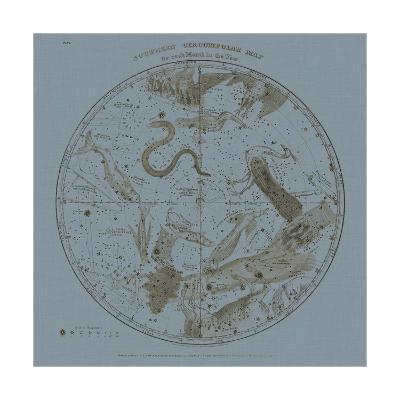 Southern Circumpolar Map-W^G^ Evans-Art Print