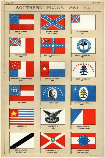 Southern Flags 1861-64-George Henry Preble-Giclee Print