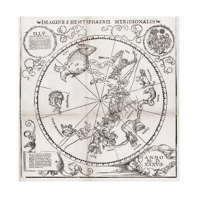 Southern Hemisphere Star Chart, 1537-Middle Temple Library-Giclee Print