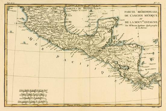 Southern Mexico, from 'Atlas De Toutes Les Parties Connues Du Globe Terrestre' by Guillaume…-Charles Marie Rigobert Bonne-Giclee Print