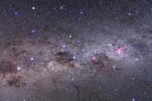 Southern Milky Way with Eta Carinae, Crux and Alpha and Beta Centauri