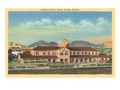 Southern Pacific Depot, Tucson, Arizona--Art Print