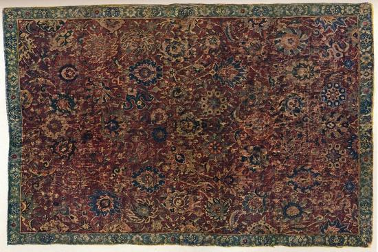 Southern Persian Isfahan carpet, 16th century-Unknown-Giclee Print