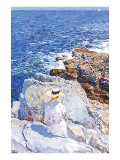 Southern Rock Riffs, Appledore-Childe Hassam-Art Print