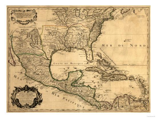 Southern United States and Central America - Panoramic Map Art Print by  Lantern Press | Art.com